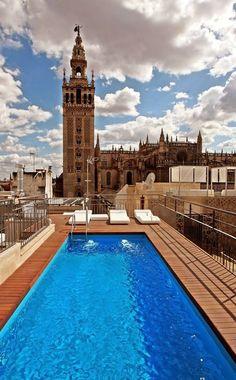 """Sevilla Azotea con piscina de el HOTEL """"LOS SEISES"""""""