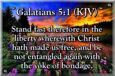 Galatians 5:1 KJV