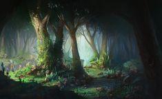 forest, sehee park on ArtStation at https://www.artstation.com/artwork/La2Y0