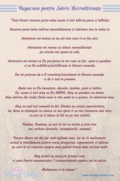 Rugaciune pentru Iubire Neconditionata | Mesaje Celeste Spelling, Beautiful, Impressionism, Games