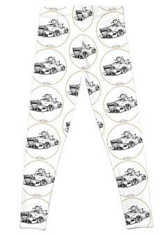 'Crazy Car Art Leggings by ozizo Framed Prints, Canvas Prints, Art Prints, Weird Cars, Car Illustration, Kustom Kulture, Chiffon Tops, Old School, Classic T Shirts