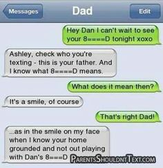 Accidental text to dad
