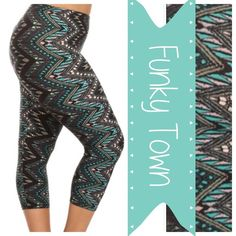 PLUS SIZE TRIBAL PRINT CAPRI LEGGINGS! Some of my ladies over size 14-16 said the others leggings were snug! NOT what the vendor described, so I went on my own hunt! 👍🏼I found CAPRI in One Size that fits up to about size 24! YES FOR REAL! 😜I've still got the others for up to a large 14/small 16 OR these are the new ones! Size 18-24. Micro Fiber, Polyester/Spandex, super sketchy and soft. ENJOY! tla2 Pants Leggings
