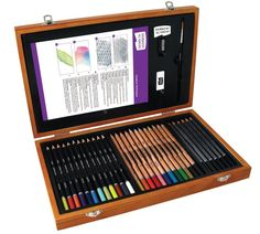 Polychromos artists' colour pencils are valued for their matchless quality by professional artists. Their high standard ensures that Polychromos artists' colour pencils are ideal. SINGLES COLOURS FROM 166 TO Art Pencil Set, Pencil And Paper, Color Pencil Art, Wooden Gift Boxes, Wooden Gifts, Wood Boxes, Types Of Pencils, Colored Pencils, Derwent Pencils