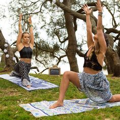 Flash Back Friday to one of our very first photo shoots with @nikki_ayres and @sarahs_day on our Dreamers Collection Yoga Mats.