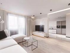 Дизайн интерьера трехкомнатной квартиры в стиле минимализм, ЖК «Небо Москвы», 110 кв.м.