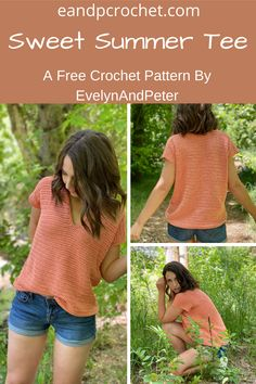 Mode Crochet, Easy Crochet, Double Crochet, Crochet Summer Tops, Crochet Tops, Crochet Sweaters, Diy Crochet Clothes, Free Crochet Sweater Patterns, Free Crochet Patterns For Beginners