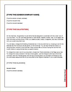 Download Business Letter template at http://www.templatesword.com/download/address-change-notification-letter/