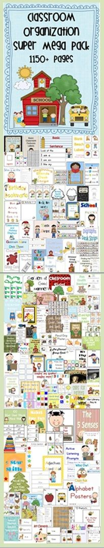 Classroom Organization Super Mega Pack 1150+ pages Here is a list of all the files in your pack:    Loads of time saving resources in one file to help you get organized.$