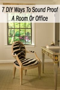 7 DIY Ways to sound proof a room or office