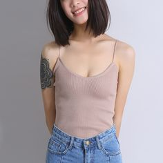 Yichaoyiliang Sexy Women Crochet Crop Top for Women Solid Color Strappy Camisole-in Camis from Women's Clothing & Accessories on Aliexpress.com | Alibaba Group