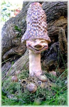 Enchanted Mushroom of Faerie Sculptures by Trisha Leigh Shufelt (c)