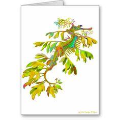 Rainbow Fantasy Leafy Sea Dragon Card  #leafyseadragon  #fishkeeping