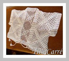 Tita Carré  Agulha e Tricot : Mais um Bolero branco em crochet