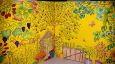 Double Page Pumpkin. Secret Garden. Folha Dupla Abóbora. Johanna Basford