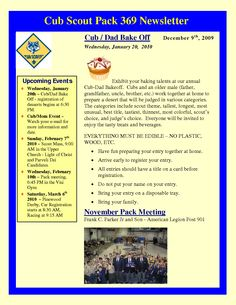 newsletter templates cub scouts and cubs on pinterest. Black Bedroom Furniture Sets. Home Design Ideas