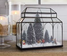 A giant snowglobe or a mini-village? Make your own winter wonderland. MyCANVAS