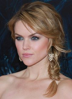 Loose Side Braid with Curly Bangs