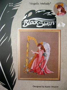 Angelic Melody Cross Stitch Angel by Karen Weaver and Black Swan