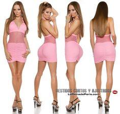 50f06cc0c7 Comprar Mini vestido ajustado con transparencias online Vestidos ajustados  cortos