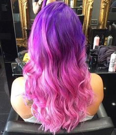 Trendy Hair Color: Pretty Pink Hair Looks to Try - Styles Weekly Cute Hair Colors, Pretty Hair Color, Bright Hair Colors, Hair Color Pink, Pink Purple Hair, Bright Purple, Pink Hair Highlights, Long Ombre Hair, Pelo Multicolor
