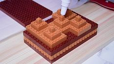 Stop-motion LEGO Chocolate Cake | The Kid Should See This Satisfying Pictures, Oddly Satisfying, Words For Amazing, Chocolate Cake, Layer Cheesecake, Webby Awards, Lego, Classic Video, Change Your Mind