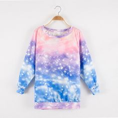 Fabric: Cotton  Color: galaxy  Size: Free  Bust: 108cm, Length: 63 cm Sleeve 59cm