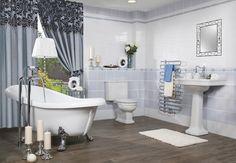 Obklady Ricordi lze vnímat jako retro koupelnu, nebo romantickou koupelnu. Ať už ji vnímáte jakkoliv, vždy nám bude koupelna Ricordi připomínat koupelny našich babiček. Série Ricordi obsahuje obklady v rozměru 20x20 cm a 20x25 cm s jemným vzorem