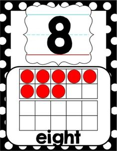 The 0-20 black  red polka dot number posters are perfect for a ladybug-themed classroom. Two versions provided.