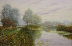 Graham Petley Direct Hoe Mills - River Chelmer - Originals - see website for more details. Throughout The World, Hoe, Impressionist, Graham, Originals, Country Roads, River, Fine Art, Website
