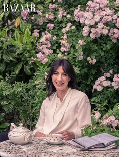 Samantha Cameron, has opened the doors to her family's Cotswold cottage in a new interview with glossy magazine Harper's Bazaar. Samantha Cameron, David Cameron, Power Dressing, Harpers Bazaar, Drinking Tea, Garden Design, That Look, Cottage, Chic