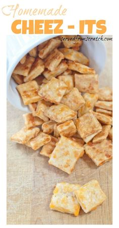 Make your favorite salty, cheesy, crunchy snack cracker at HOME! These homemade chees-its are delicious, easy and quick to make. Does it get much better than that? :)