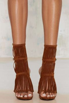 Nasty Gal Night Moves Fringe Heel