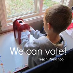 Election Day We Can Vote by Teach Preschool. What a great idea! Have to save it for 4 years so I can use it :) Preschool Social Studies, Social Studies Curriculum, Preschool Curriculum, Preschool Classroom, Preschool Activities, Homeschool, Teach Preschool, Election Votes, Election Day
