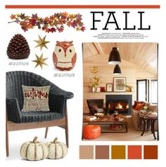 """Fall Home"" by lgb321 ❤ liked on Polyvore featuring interior, interiors, interior design, home, home decor, interior decorating, Grandin Road, K&K Interiors, Sur La Table and Nearly Natural"