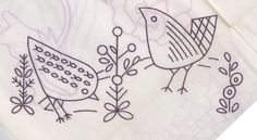 Vintage bird patterns from the 70s? Adorable!