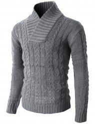 Polyester Thermal Pullover Sweater F/W Season Twist Patterned Pullover Sweater Slim Fit Hand Wash