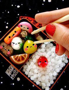 Japanese candy Bento, stylish japanese food