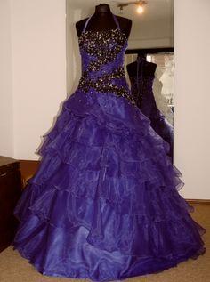plesové fialové šaty kolekce Yvettey - plesové šaty, svatební šaty, společenský salón