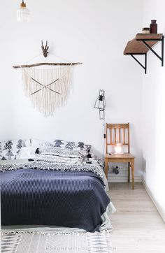 Fab DIY aztec garland. The incredibly cosy Finnish family home (click for full tour). No home without you.