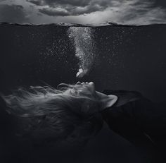 "Photography, ""Drowning - Large - Limited Edition 1 of Techniques de Photographie Dark Photography, Underwater Photography, Artistic Photography, Creative Photography, Black And White Photography, Portrait Photography, Fashion Photography, Photography Jobs, Underwater Photos"
