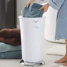 I'm pretty sure I need this STAT: Towel Warmer by Brookstone