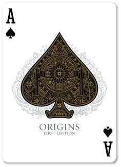 Origins Playing Cards - printed by USPCC by Rick Davidson — Kickstarter Más Unique Playing Cards, Playing Cards Art, Custom Playing Cards, Ace Card, Play Your Cards Right, Ace Of Spades, Tattoo Project, Sugar Skull Art, Cool Cards
