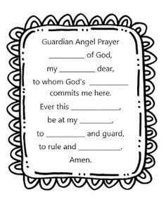 guardian angel prayer coloring pages   Story Time Secrets: First Grade CCD 2014-2015: Lesson 1 ...