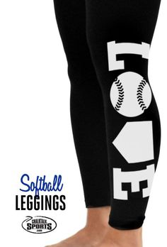 ad9be25f7e3 Check out these adorable Love Softball leggings! Softball Things