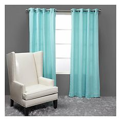 The smart, tailored look of our Aquamarine Mitoni panels finishes your windows in contemporary style. $69.95
