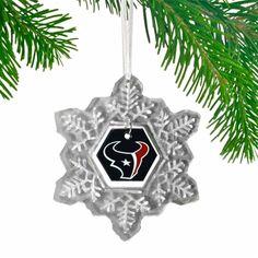 Houston Texans Glass Snowflake Ornament Snowflake Ornaments, Snowflakes, Christmas Ornaments, Houston Texans Football, Fan, Holiday Decor, Glass, Snow Flakes, Drinkware