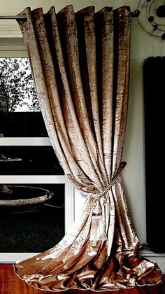 Crush Velvet Curtains Ring Top Thick Ready Made Fully Lined Champagne Gold Unbranded Plain