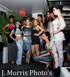 Hillary Flowers and models wearing the Judith Ann Collection