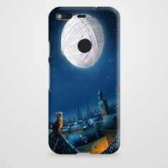 Cat And Moon Art Google Pixel Case | casefantasy
